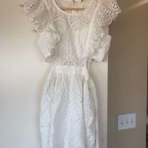 White Dress worn once